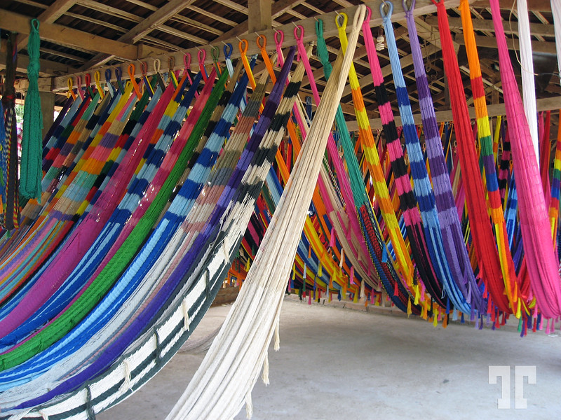 Hammock manufacture and shop on the road to Acapulco  - 17 May 2008 Mexico West coast